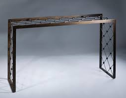 glass and metal console table products u003e console tables tyson london decorative lighting and