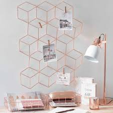 Pink Gold Bedroom by Sechseckiges Regal Aus Metall H 45 Einrichten Pinterest