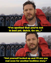 Bedtime Meme - tom hardy read a bedtime story on cbeebies and hhnnnnnnngggggg