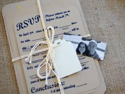 Personalized Wedding Invitations Rustic Chic Linen And Navy Blue Personalized Wedding Invitation