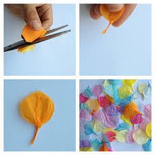 tutorial for a petal card make beautiful tissue petals u2014 u003e collage