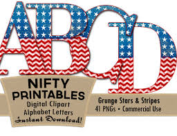 Blue White And Red Flags American Flag Alphabet Letters Shabby Red White Blue Alpha