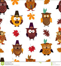 funny thanksgiving costumes thanksgiving day cute owl background stock vector image 45377226