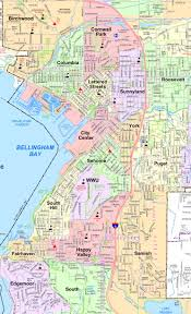 State Of Washington Map by Bellingham Washington Neighborhood Map Northwest Pinterest