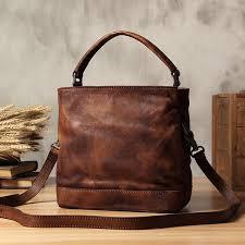 Handmade Leather Tote Bag - handbags lisabag