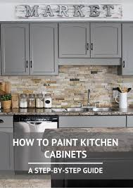 Above Cabinet Kitchen Decor How To Paint Kitchen Cabinets Step Guide Kitchens And House