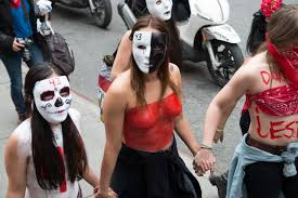 zombie jesus halloween costume the family members of 43 missing mexican students rallied in new