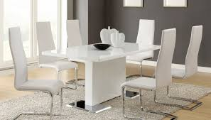White Gloss Dining Room Table by Dining Room Prominent White Gloss Dining Room Table And Chairs