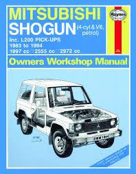 mitsubishi shogun u0026 l200 pick ups petrol 83 94 haynes repair