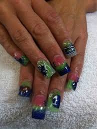 seahawks nails amazing work done by jonathans nail salon and spa