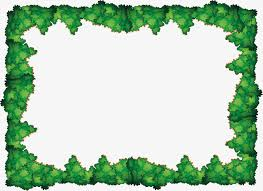 green tree border vector png the trees green bush png and vector