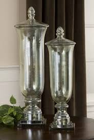decorative canisters kitchen uttermost gilli glass decorative containers set 2 modern