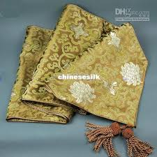 luxury damask table runner luxury 120 inch brown damask fabric table runners extra long party