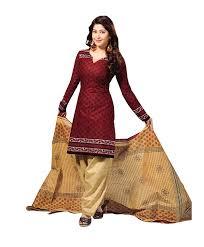 vaamsi women u0027s salwar suit dress material cocp6 maroon free size