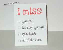 i miss you card personalized i miss you card i miss your hugs