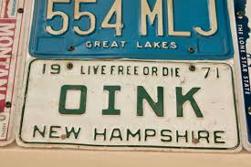 New Hampshire Vanity Plate A Different Collection Of Plates Streets Mn
