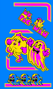 Ms Pacman Cabinet Insert Coin Ms Pac Man Cabinet Side Art