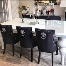Black Gloss Dining Table And 6 Chairs Dining Room U2013 House Of Sparkles