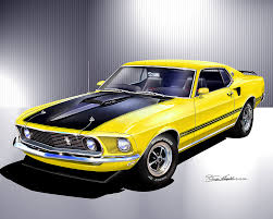 1970 Black Mustang 1969 1970 Ford Mustang Fine Art Prints U0026 Posters By Danny Whitfield
