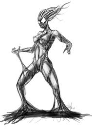 she venom sketch by tuax on deviantart