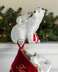 Polar Bear Christmas Ornaments by Polar Bear Family Stocking Holder Balsam Hill