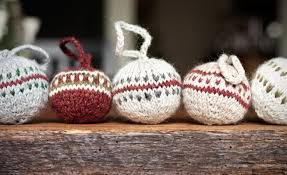 knitted christmas knitted christmas bobbles gift favor ideas from evermine