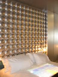 contemporay wall mounted upholstered headboard panels with silver