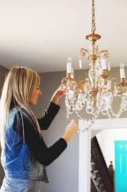 Chandelier Cleaner Recipe Our Restyled Copper Chandelier U2013 A Beautiful Mess