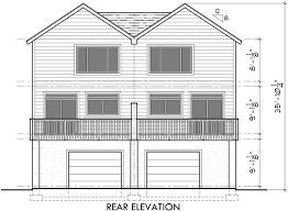 duplex house plans d 522 sloping lot plans view deck duplex