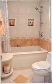 interior cool small bathroom design using polished cream marble