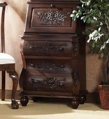Cherry Secretary Desk by Hand Carved Dark Cherry Secretary Desk With File Drawer Free