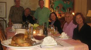 thanksgiving dinner with friends and family galley chef