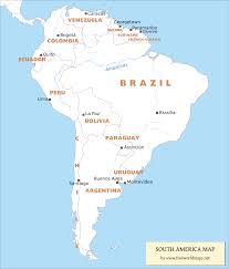 United States Map With State Names And Capitals by Map Of South American Countries And Capitals