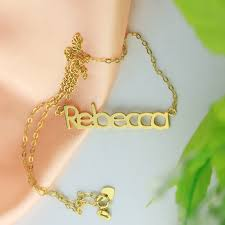 gold name plate necklace nameplate necklace 18k gold plating