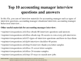 free resume templates for accounting manager interview question top10accountingmanagerinterviewquestionsandanswers 150327224836 conversion gate01 thumbnail 4 jpg cb 1427514562