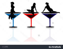 martini silhouette vector hd martini silhouette library free vector art images