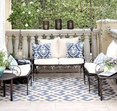 Navy And White Outdoor Rug Balcony Rug Balcony Design Ideas Photo Gallery
