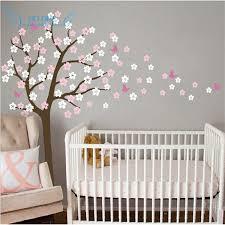 Cherry Blossom Wall Decal For Nursery Shop Tree Blowing Cherry Blossom Wall Decal Nursery