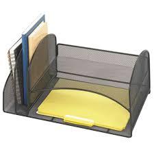 Safco Mesh Desk Organizer Safco 3264bl 17 X 10 3 4 X 7 3 4 Black 4 Section Mesh Desktop