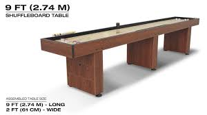 barrington 9 solid wood shuffleboard table eastpoint sports 9 foot solid pine shuffleboard game table walmart com