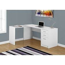 Glass Computer Desk Monarch Specialties 60x55 Corner Computer Desk In White Ebay
