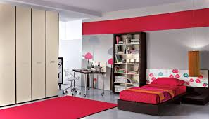 simple bedroom ideas for teenage girls with red colors theme