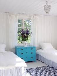 bedroom round turquoise nightstand with flowers for home