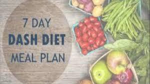 dash diet menu plan youtube