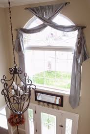 curtains foyer window curtains ideas arch window treatment