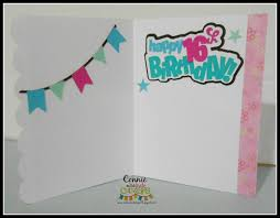 miss kate cuttables sweet 16 birthday card