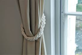 Curtain Tie Backs For Chunky White Cotton Rope Braided Curtain Tie Backs Nautical