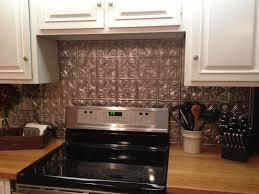 Easy Backsplash Kitchen Cool Diy Faux Tin Kitchen Backsplash With Vase Top 12 Faux Tin