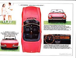 fiat 124 spider brochures fiat 500 usa