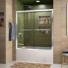 glass door in bathroom dreamline duet 56 in to 59 in x 58 in framed bypass tub door in